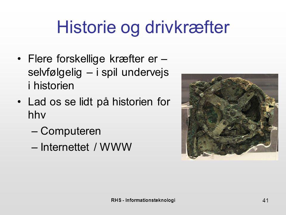 Historie og drivkræfter