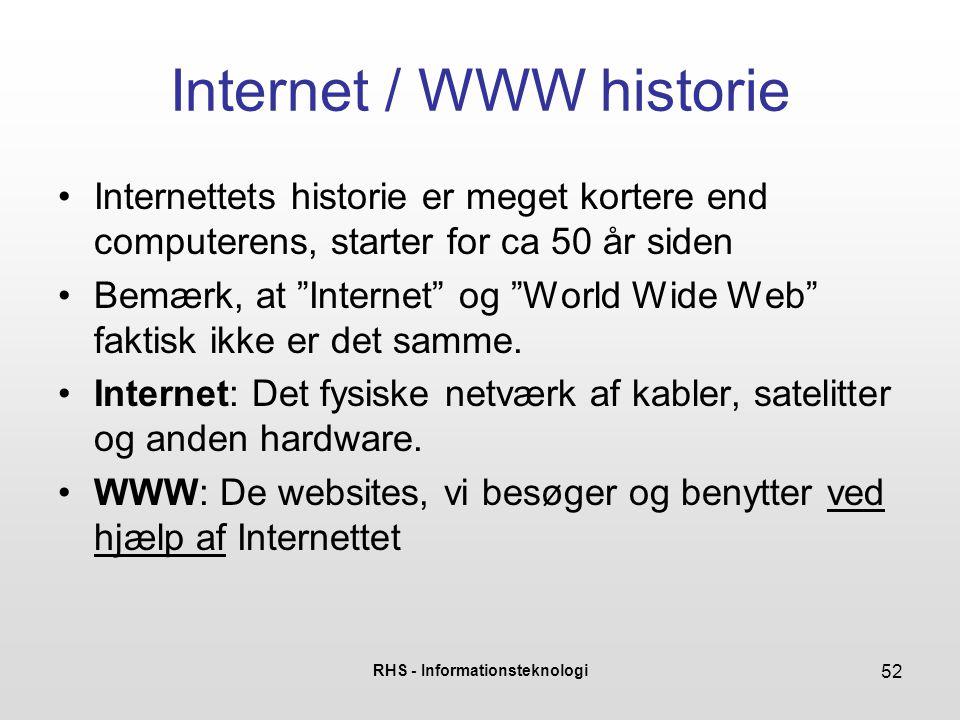 Internet / WWW historie