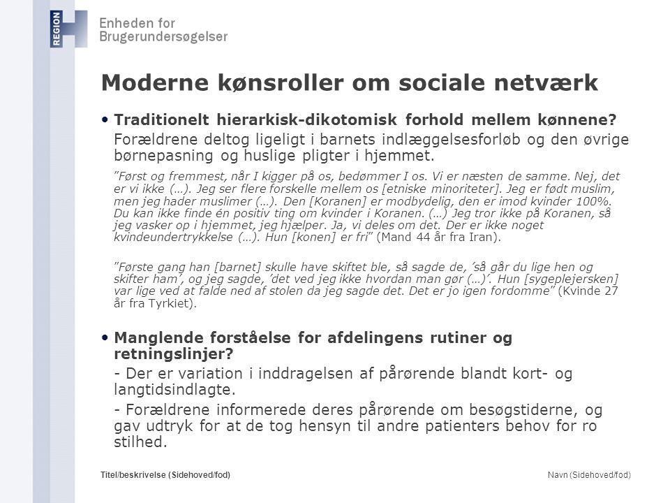 Moderne kønsroller om sociale netværk