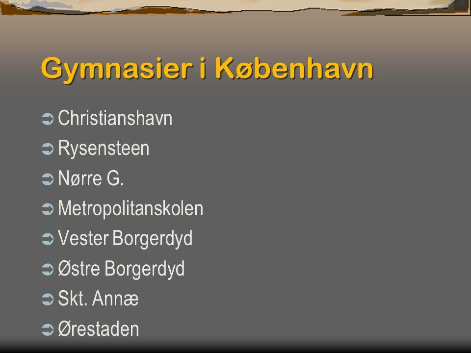 Gymnasier i København Christianshavn Rysensteen Nørre G.
