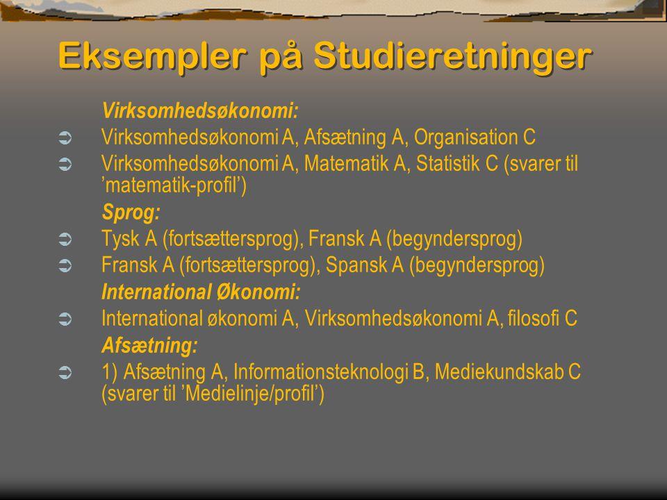 Eksempler på Studieretninger