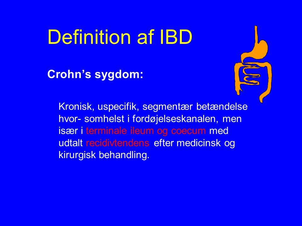 Definition af IBD Crohn's sygdom: