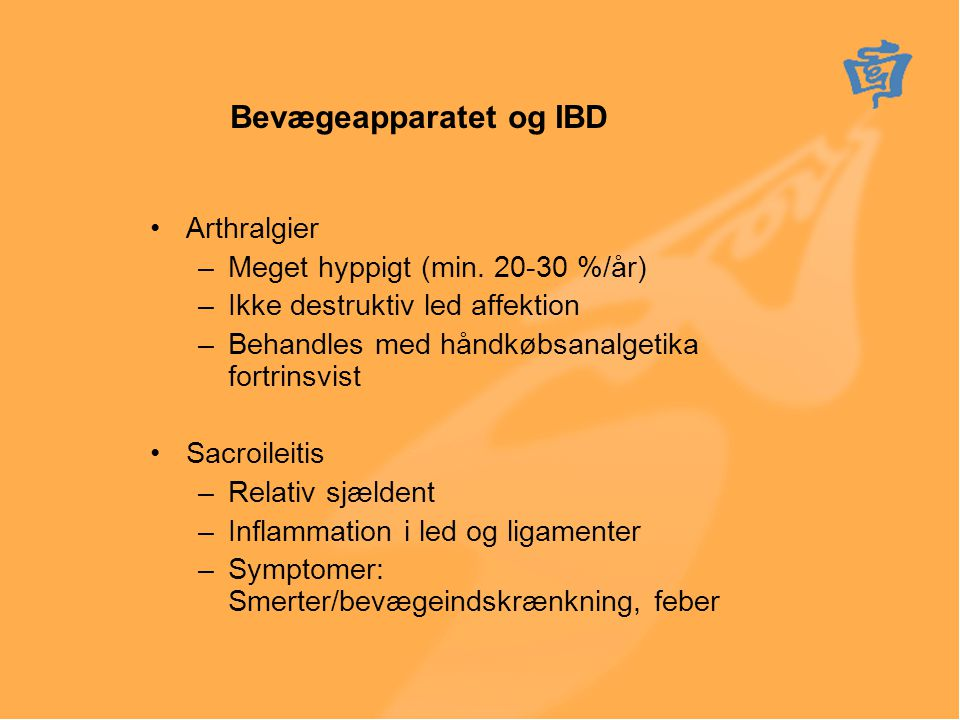 Bevægeapparatet og IBD