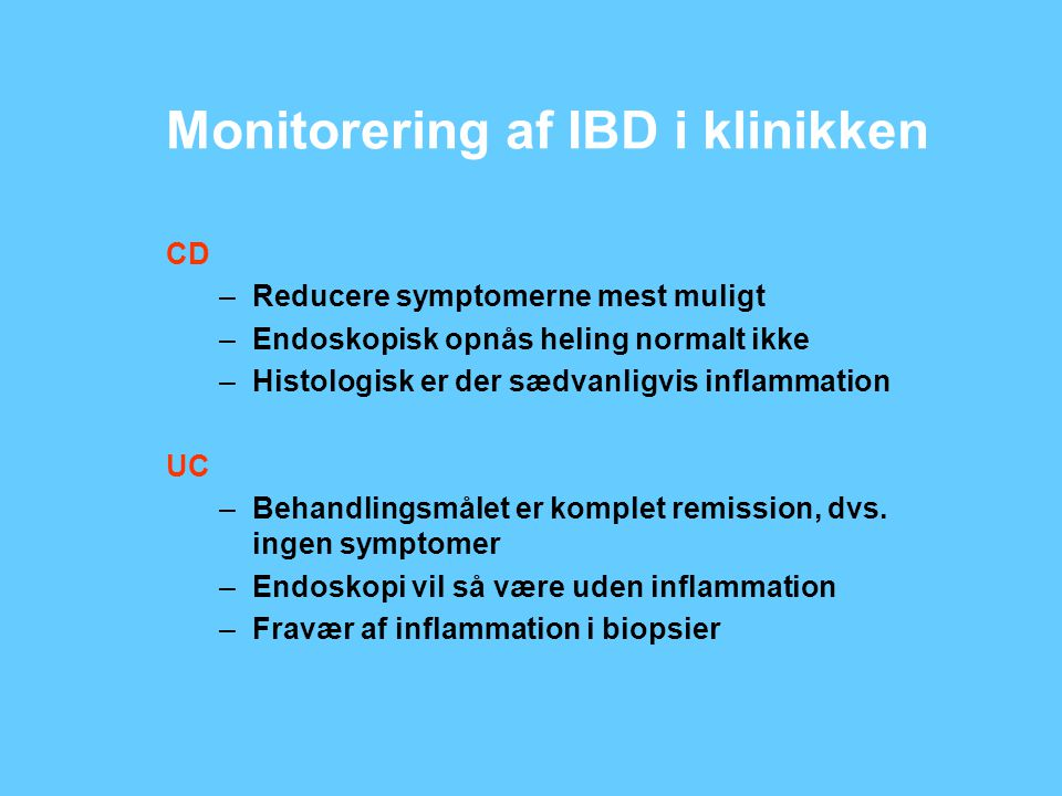 Monitorering af IBD i klinikken