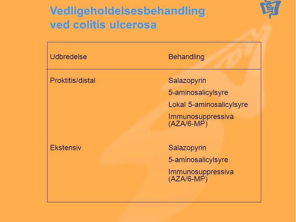 Vedligeholdelsesbehandling ved colitis ulcerosa
