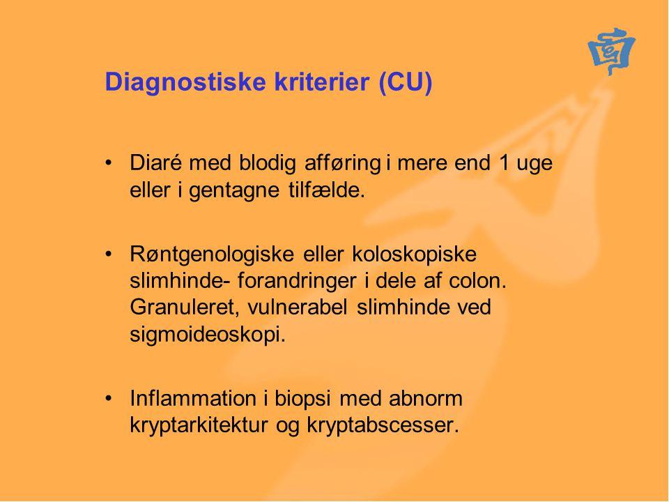 Diagnostiske kriterier (CU)