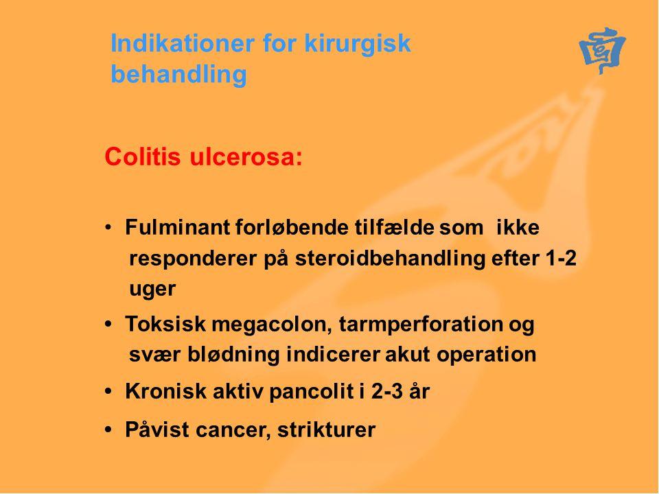 Indikationer for kirurgisk behandling
