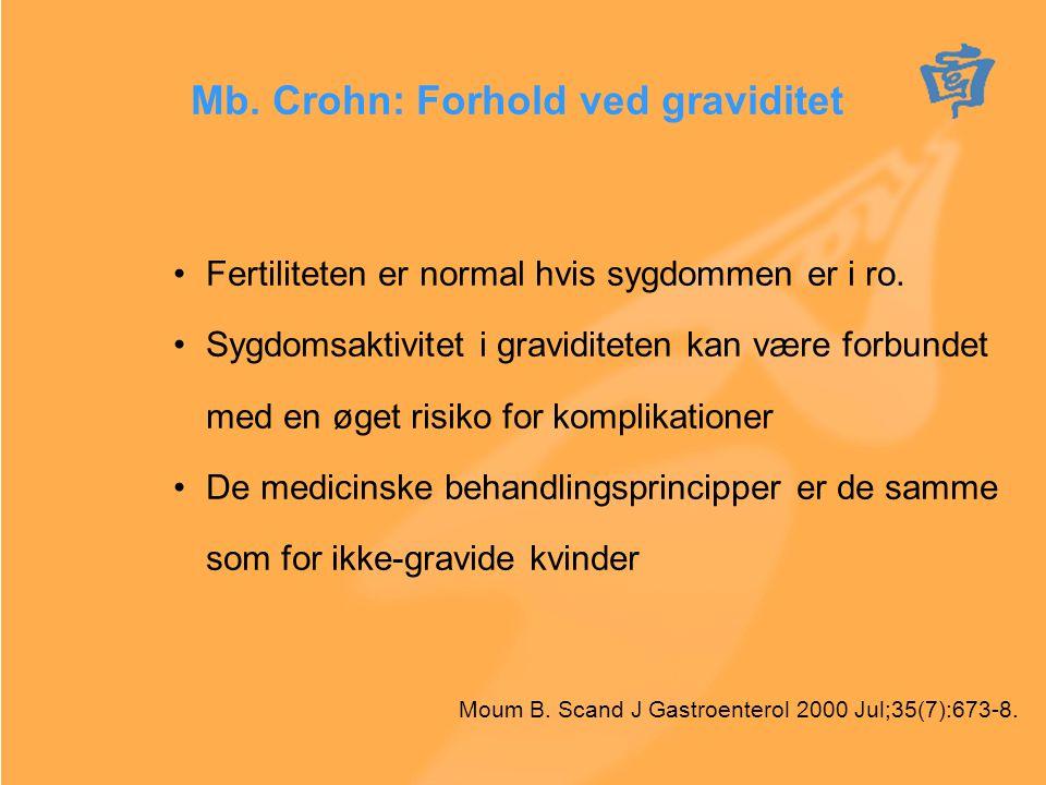 Mb. Crohn: Forhold ved graviditet