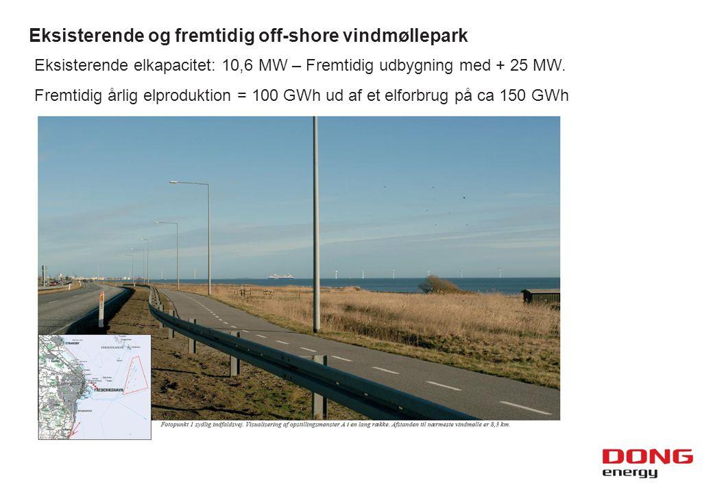 Eksisterende og fremtidig off-shore vindmøllepark