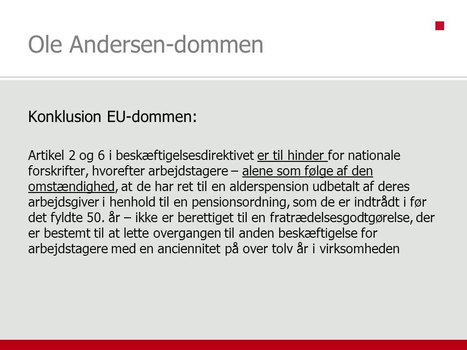 Ole Andersen-dommen Konklusion EU-dommen: