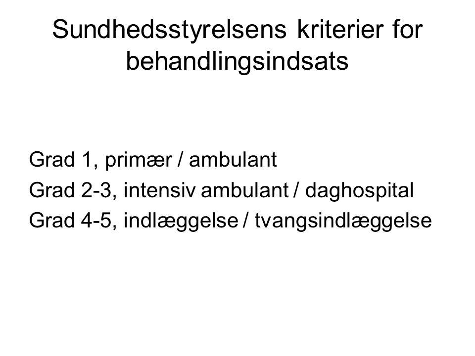 Sundhedsstyrelsens kriterier for behandlingsindsats