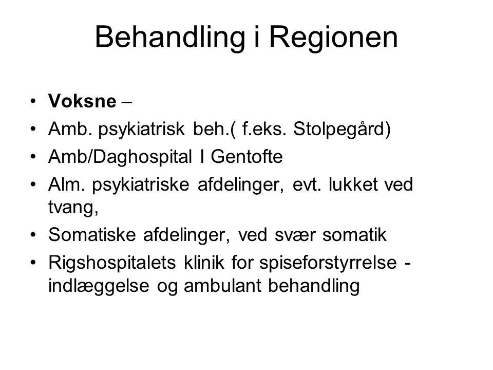 Behandling i Regionen Voksne –