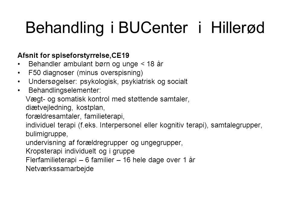 Behandling i BUCenter i Hillerød
