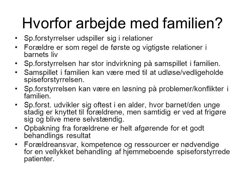 Hvorfor arbejde med familien