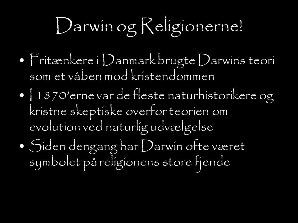 Darwin og Religionerne!