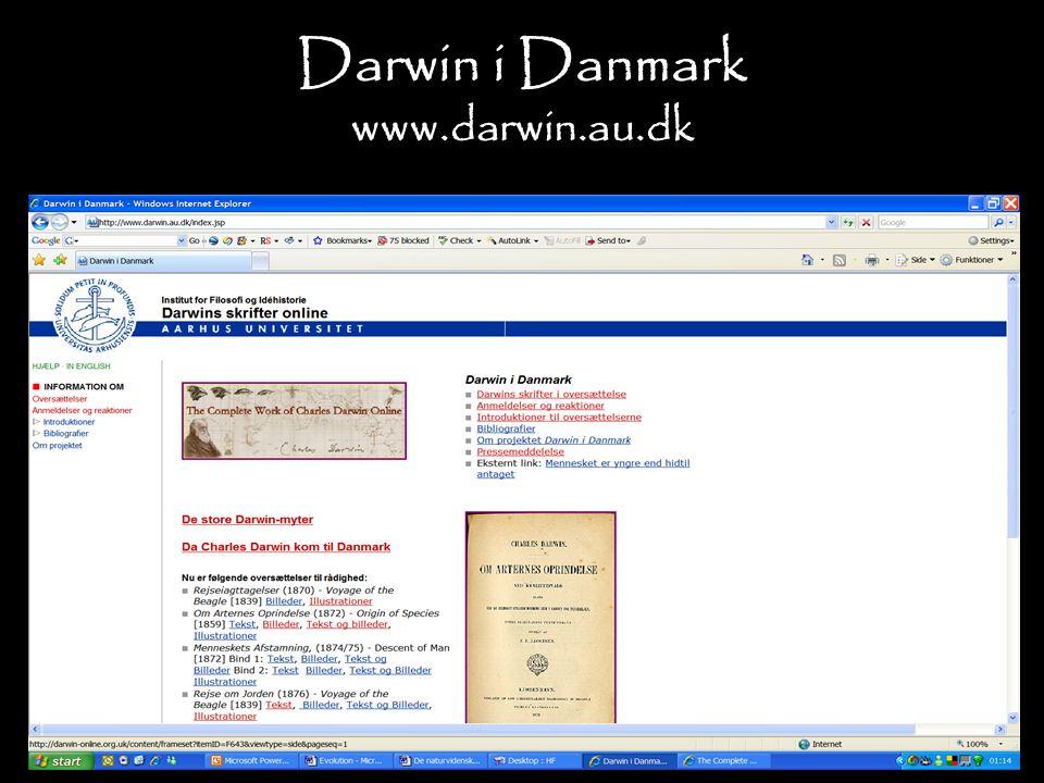 Darwin i Danmark www.darwin.au.dk