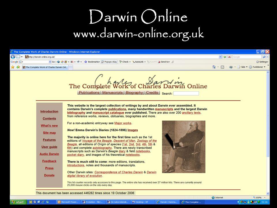 Darwin Online www.darwin-online.org.uk