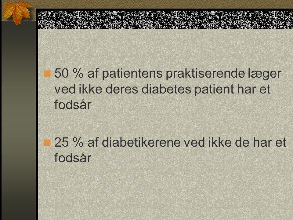 50 % af patientens praktiserende læger ved ikke deres diabetes patient har et fodsår