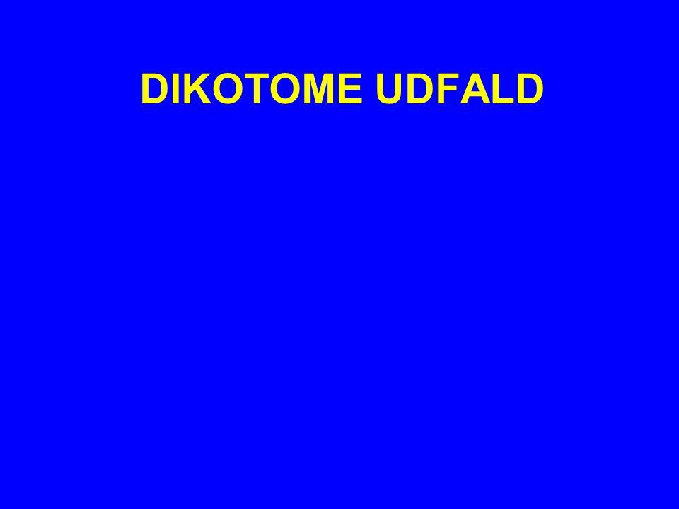 DIKOTOME UDFALD