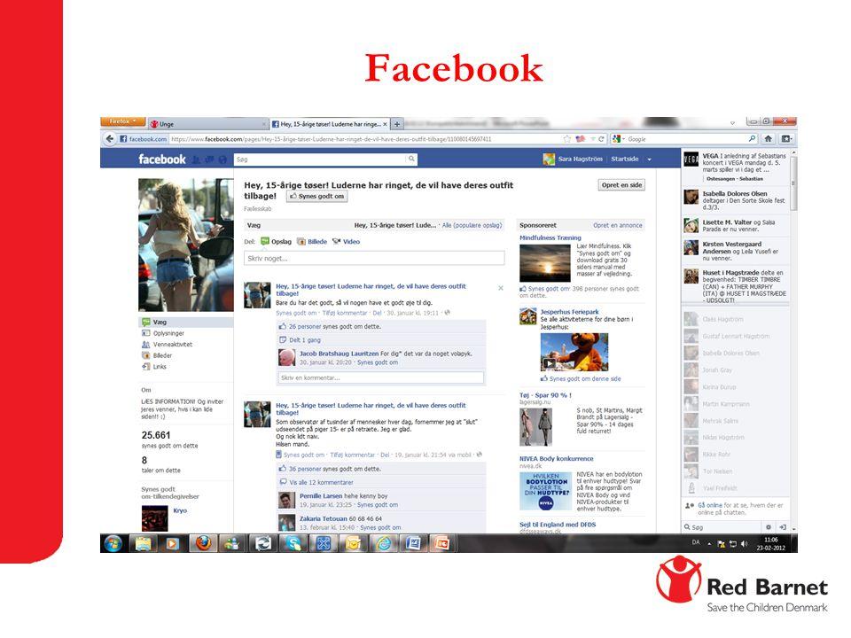 Facebook Facebook er det mest kendte. Gennemgå siden.