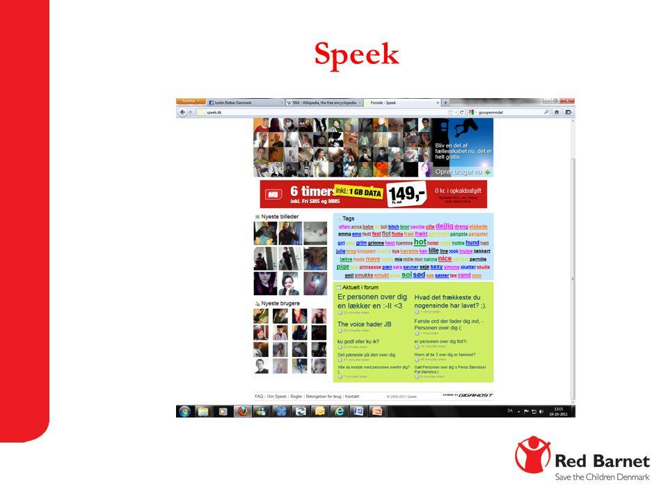 Speek Endnu et eksempel er en anden dansk side, Speek.