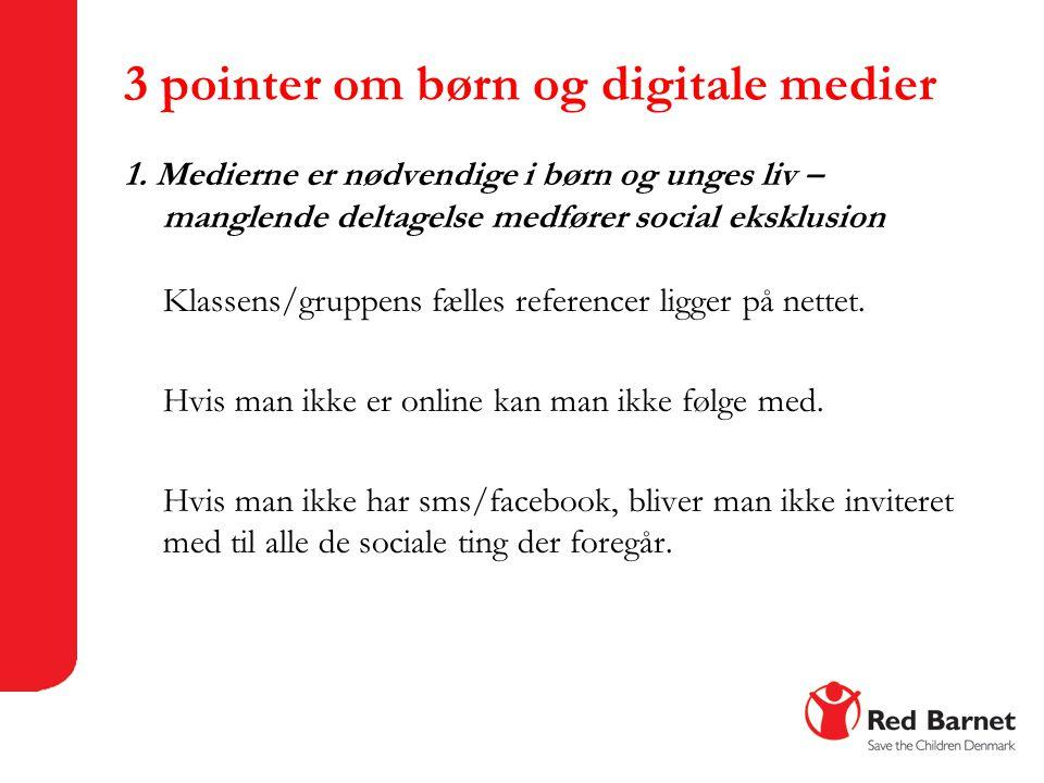 3 pointer om børn og digitale medier