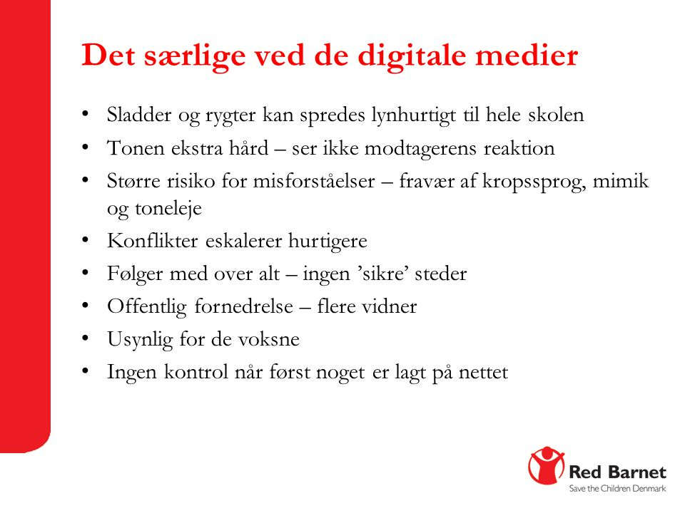 Det særlige ved de digitale medier