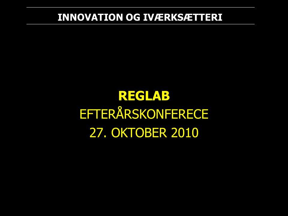 REGLAB EFTERÅRSKONFERECE 27. OKTOBER 2010