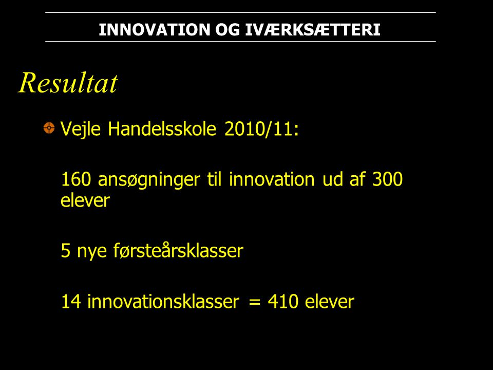 Resultat Vejle Handelsskole 2010/11: