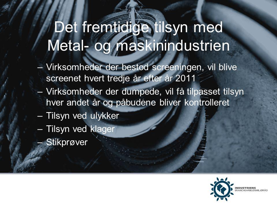 Det fremtidige tilsyn med Metal- og maskinindustrien