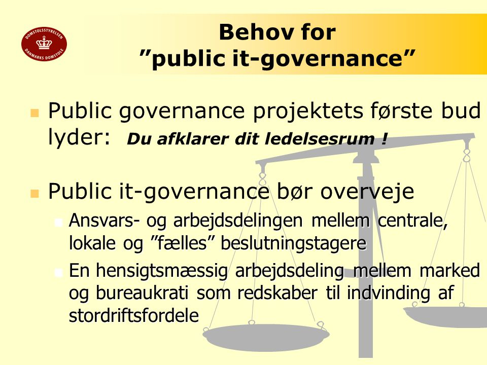 Behov for public it-governance