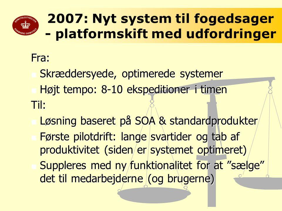 2007: Nyt system til fogedsager - platformskift med udfordringer