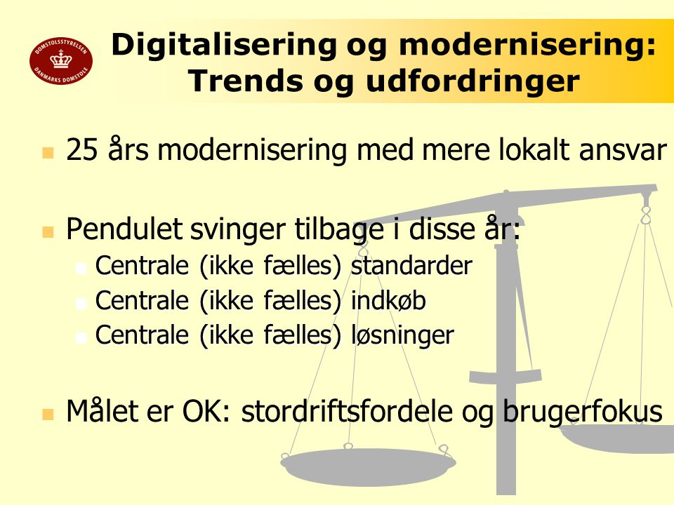 Digitalisering og modernisering: Trends og udfordringer