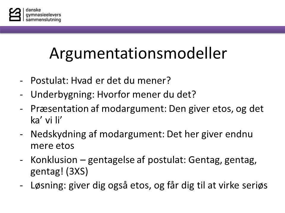 Argumentationsmodeller