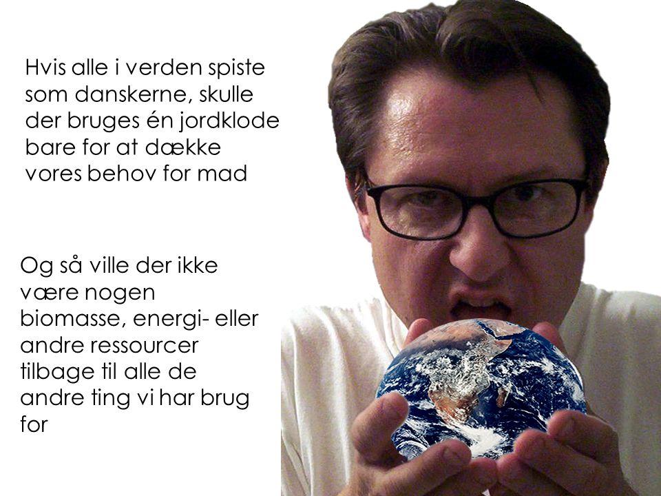 Hvis alle i verden spiste som danskerne, skulle der bruges én jordklode bare for at dække vores behov for mad