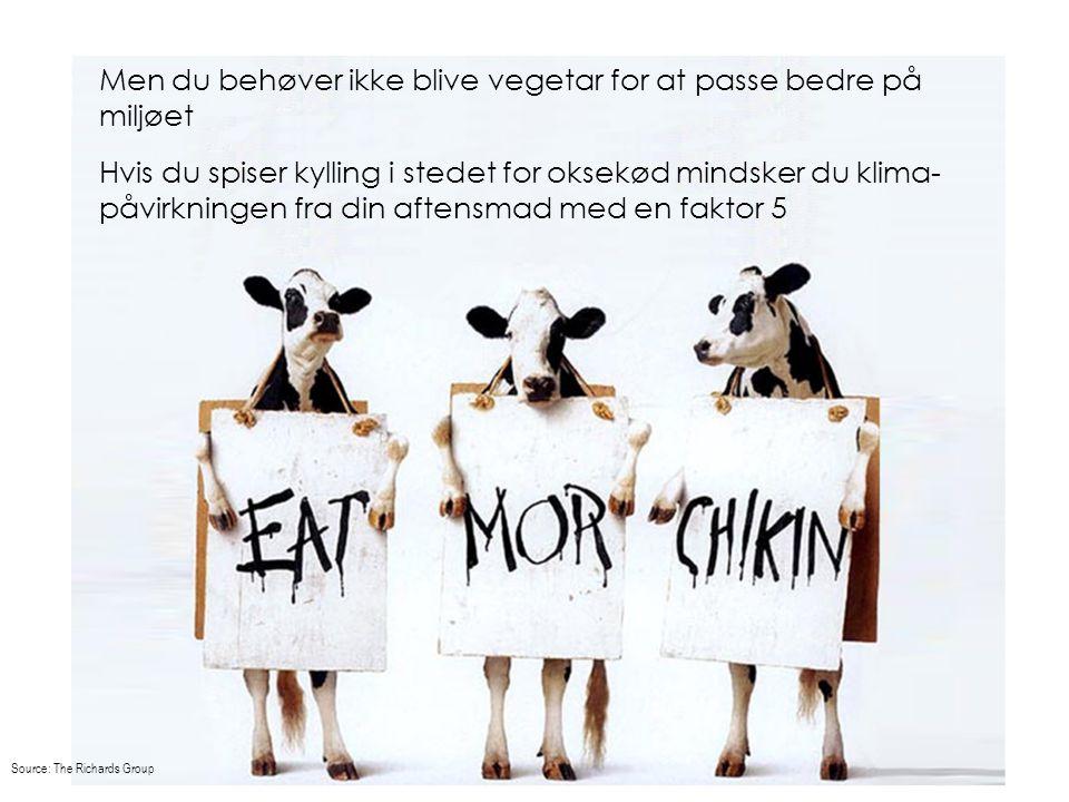 Men du behøver ikke blive vegetar for at passe bedre på miljøet