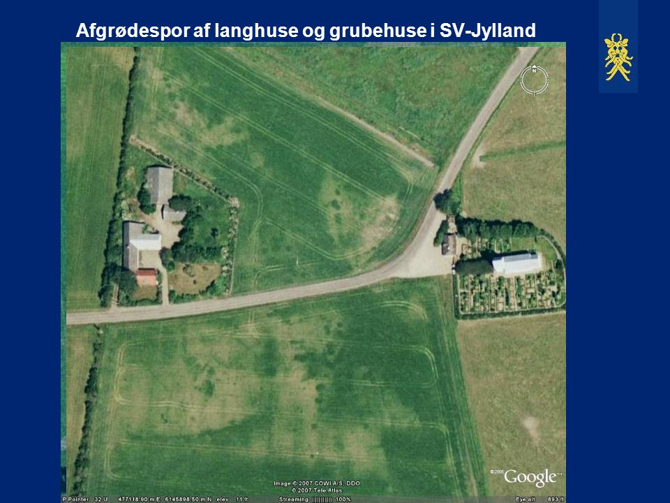 Afgrødespor af langhuse og grubehuse i SV-Jylland