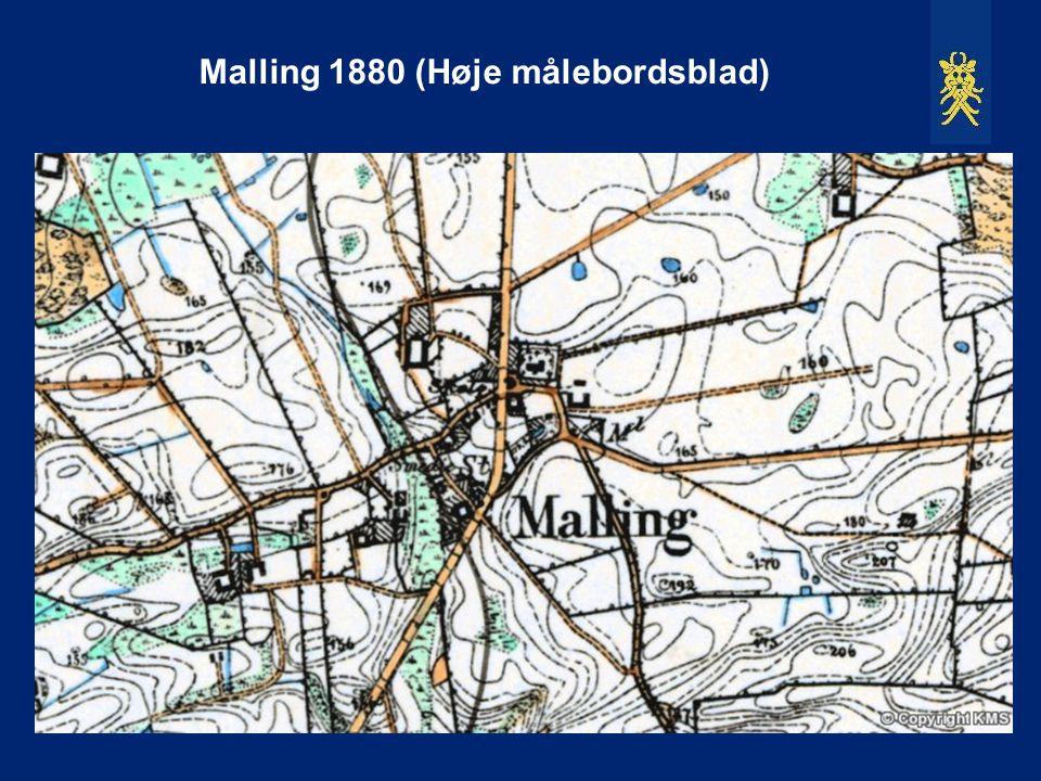 Malling 1880 (Høje målebordsblad)