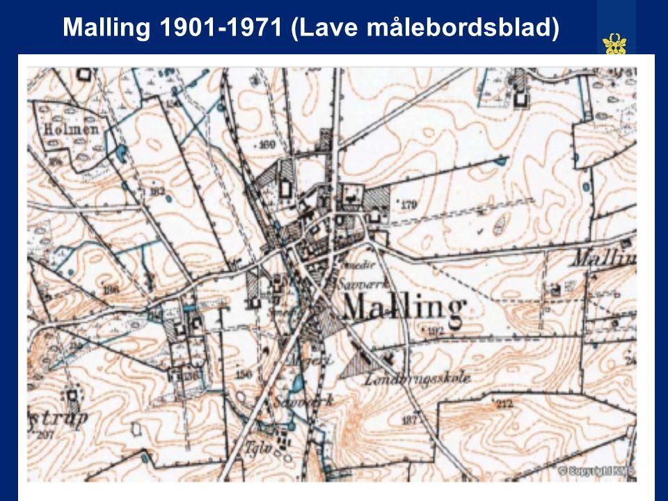 Malling 1901-1971 (Lave målebordsblad)