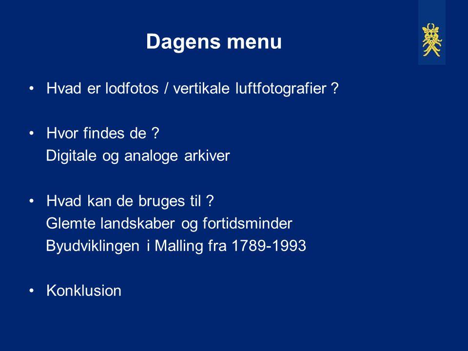 Dagens menu Hvad er lodfotos / vertikale luftfotografier