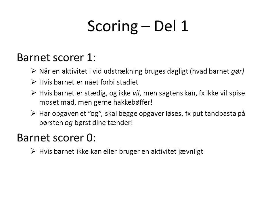 Scoring – Del 1 Barnet scorer 1: Barnet scorer 0: