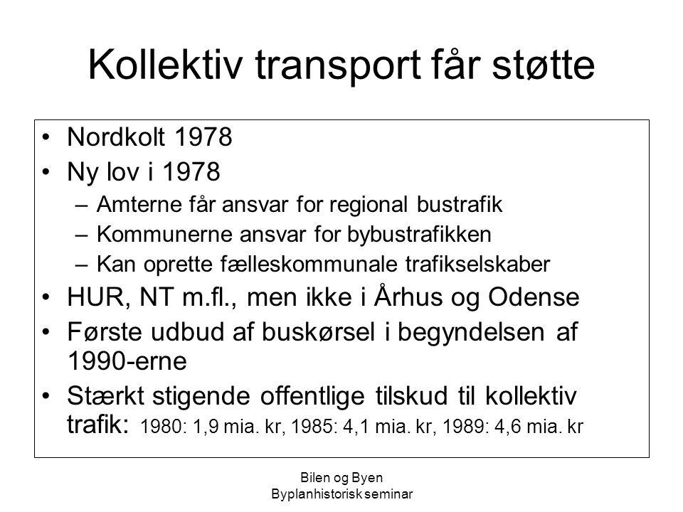Kollektiv transport får støtte