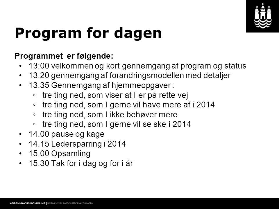 Program for dagen Programmet er følgende: