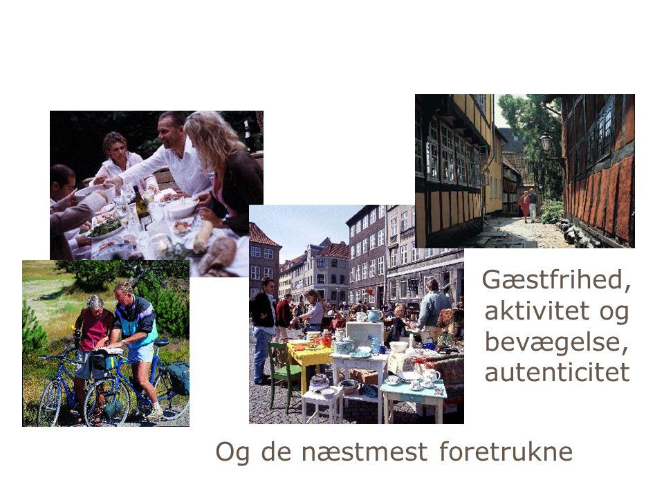 Gæstfrihed, aktivitet og bevægelse,autenticitet