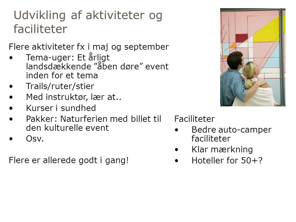 Udvikling af aktiviteter og faciliteter