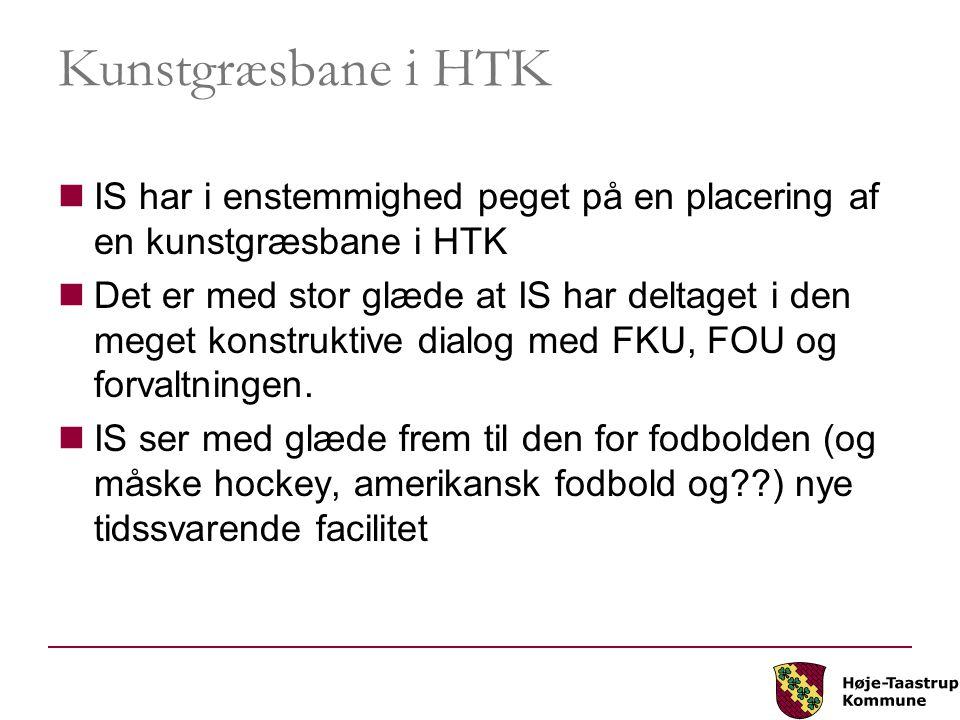 Kunstgræsbane i HTK IS har i enstemmighed peget på en placering af en kunstgræsbane i HTK.