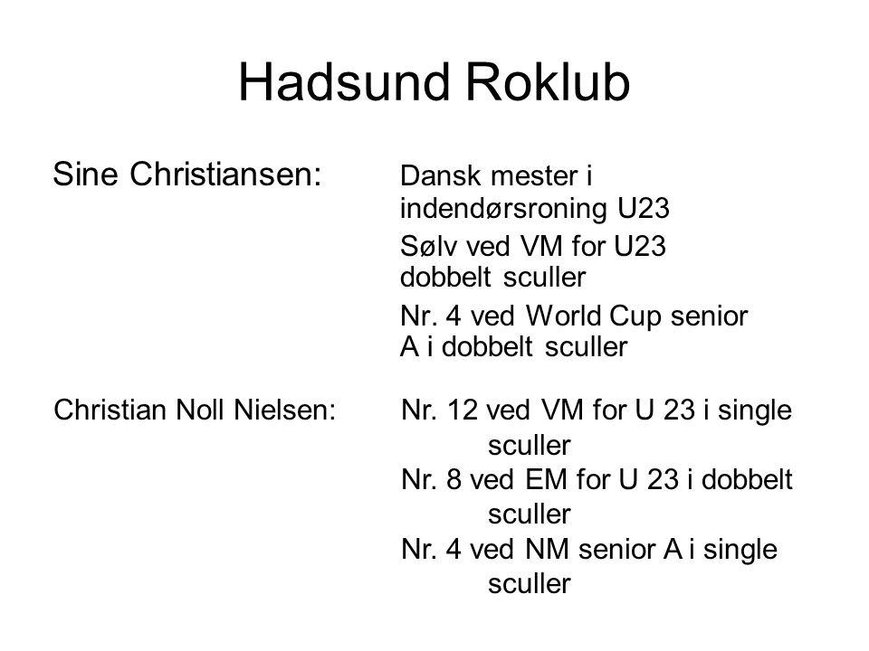 Hadsund Roklub Sine Christiansen: Dansk mester i indendørsroning U23