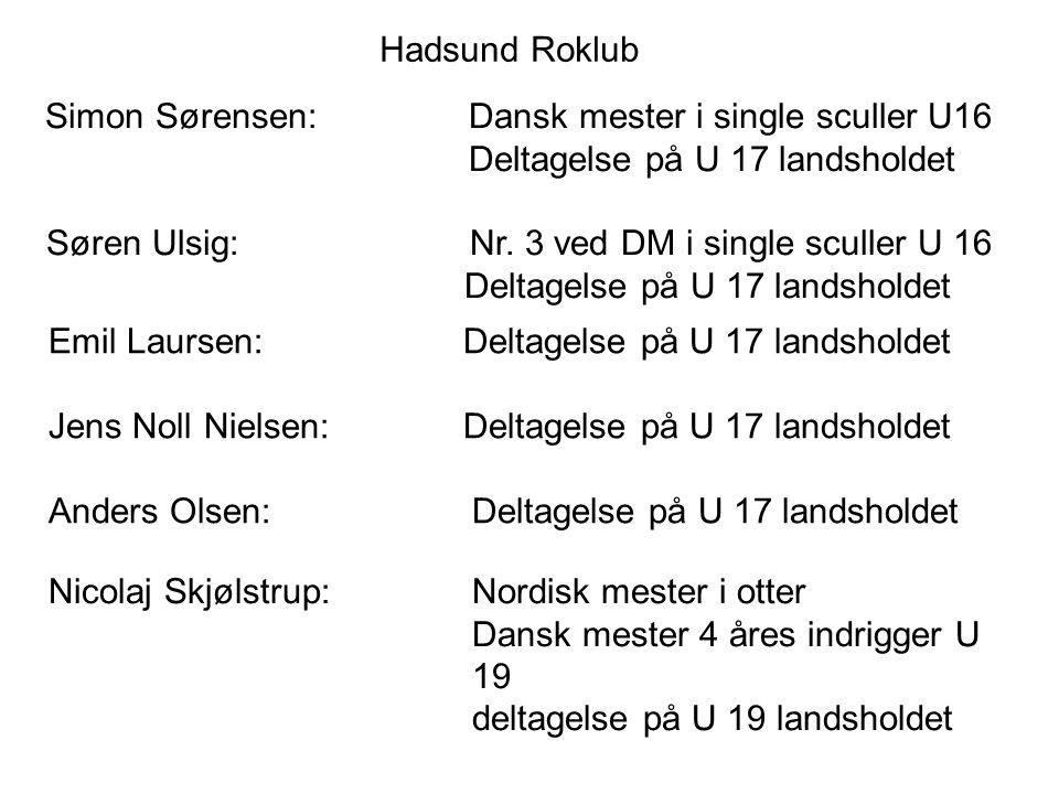 Simon Sørensen: Dansk mester i single sculler U16