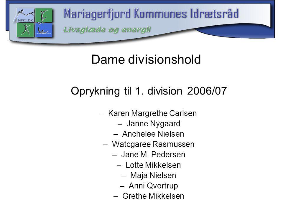 Dame divisionshold Oprykning til 1. division 2006/07