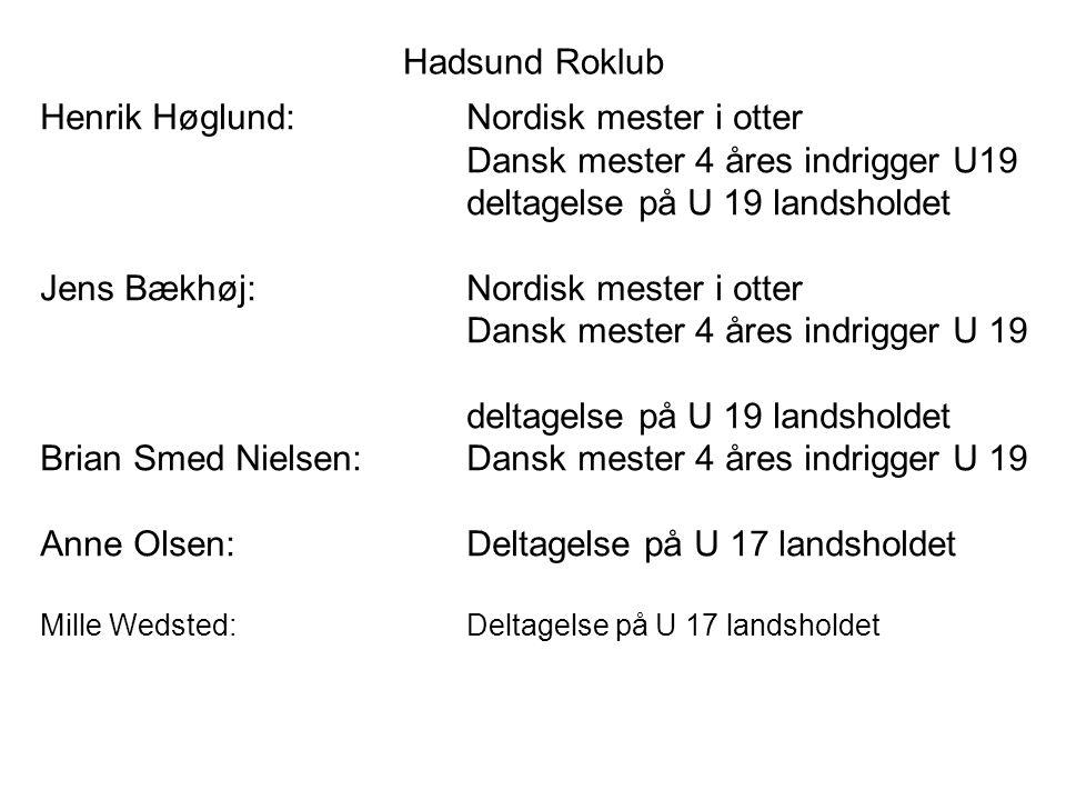 Henrik Høglund: Nordisk mester i otter